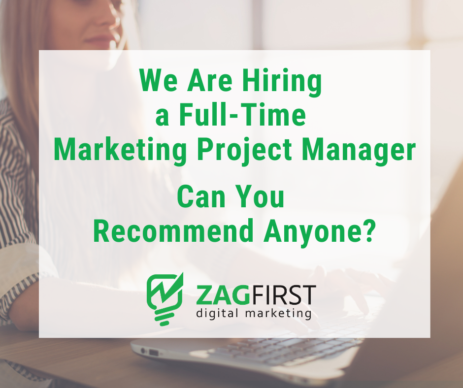 We Are Looking for a marketing project manager
